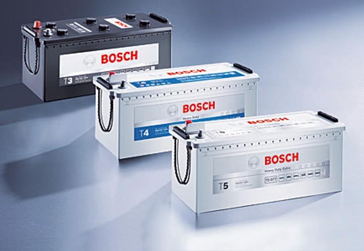 Akumulatory ciężarowe Bosch z serii T3, T4 i T5