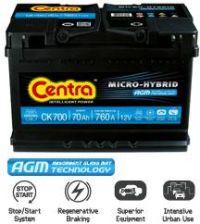Akumulator CENTRA AGM 60AH CK600 680A P+