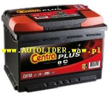 Akumulator CENTRA PLUS 12V 45AH 300A (WYMIARY: 235 X 127 X 226) (CB455) (L+)