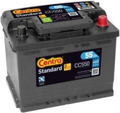 Akumulator CENTRA STANDARD CC550 12V 55AH 460A (P+)
