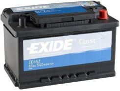 Akumulator EXIDE CLASIC EC 652 65AH 4540 A P+