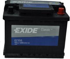 Akumulator EXIDE CLASSIC EC550 (55AH 460A) (P+)