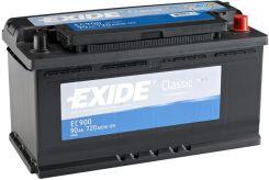 Akumulator EXIDE CLASSIC EC900 - 90AH 720A P+