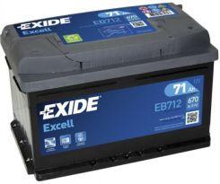 Akumulator EXIDE EXCELL 12V71AH 670A (P+)