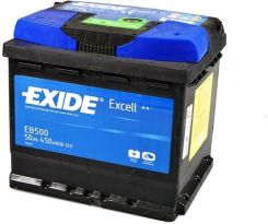 EXIDE EXCELL EB500 - 50AH 450A P+