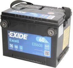 Akumulator EXIDE EXCELL EB608 640A 60AH L+