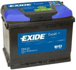 Akumulator EXIDE EXCELL EB620 - 62AH 540A P+
