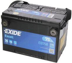 Akumulator EXIDE EXCELL EB758 770A 75AH L+