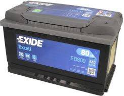 Akumulator EXIDE EXCELL EB800 - 80AH 640A P+