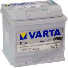 Akumulator VARTA SILVER DYNAMIC C30 54AH 530A 12V (P+)