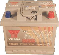 Akumulator YUASA 50AH 480A P+ SILVER YBX5063