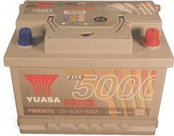 Akumulator YUASA 60AH 620A P+ SILVER YBX5075
