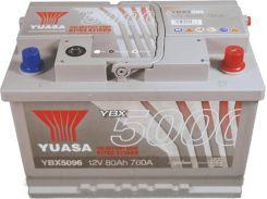 Akumulator YUASA 80AH 760A P+ SILVER YBX5096